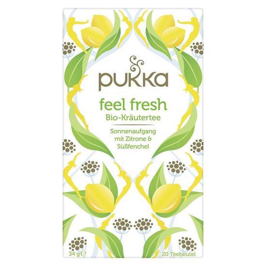 Bild von Pukka - Feel Fresh Bio Kräutertee - Mit Zitrone und Süßfenchel - 20 Aufgussbeutel