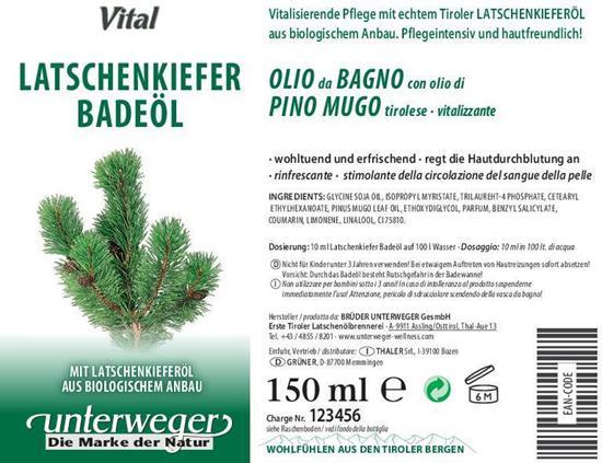 Bild von Unterweger - Badeöl Latschenkiefer - Mit echtem Tiroler Latschenkieferöl - 150 ml