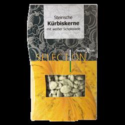 Bild von Steirerkraft - Steirische Kürbiskerne weiße Schokolade Selection - 100 g