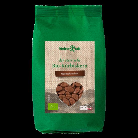 Bild von Steirerkraft - Steirische Kürbiskerne Milchschokolade BIO - 100 g