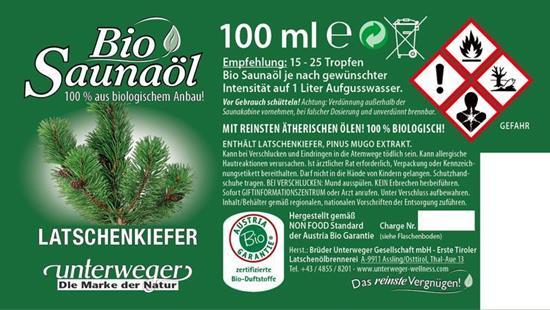 Bild von Unterweger - Bio Saunaöl Latschenkiefer - Mit reinen ätherischen Ölen - 100 ml