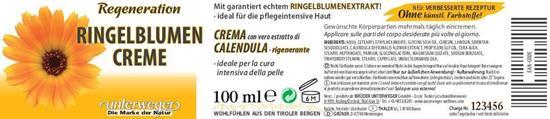 Bild von Unterweger - Ringelblumen Creme - Mit reinem Ringelblumen-Extrakt - 100 ml
