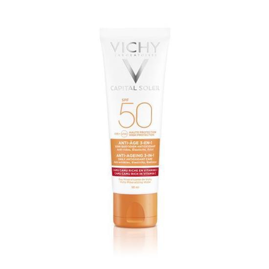 Bild von Vichy Idéal Soleil - Anti-Age 3-in-1 Antioxidative Sonnenpflege LSF 50 - 50 ml