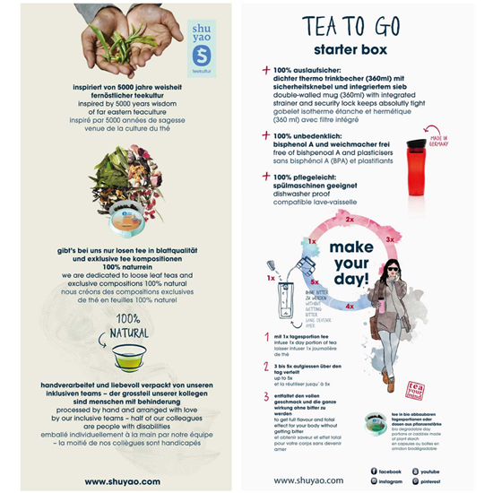 Bild von Shuyao - Starter Box Tea To Go - Teebereiter mit 10 x Bio Tee