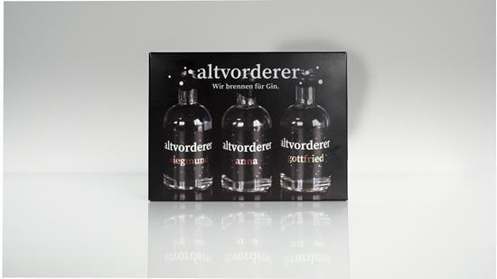 Bild von altvorderer - Gin Set Mini / 41% Vol. - anna, siegmund & gottfried - 3 x 0,05 l