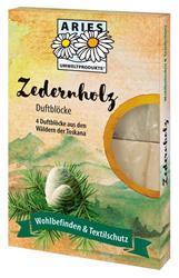 Bild von ARIES - Zedernholz Duftblöcke - Schützt Naturtextilien vor Motten & Co. - 1 x 4 Stück