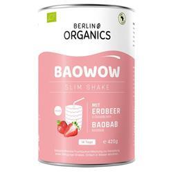 Bild von Berlin Organics  - Baowow Slim Erdbeere - Sättigungsshake - 420 g