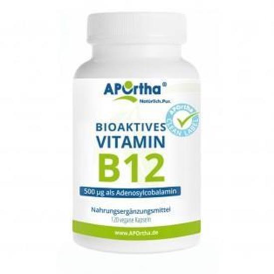 Bild von Aportha - Aktiviertes Vitamin B12 - 500 µg Adenosylcobalamin - 120 Kapseln