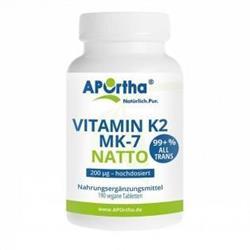 Bild von Aportha - Vitamin K2 Natto - MK7 200 µg - 190 Tabletten